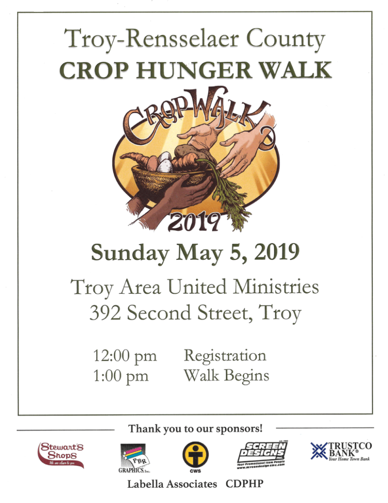 Crop Hunger Walk 2019 – Troy Area United Ministries